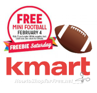 2/4: Kmart Freebie Saturday ~ Free Mini Football!