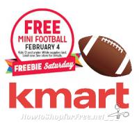 2/4: Kmart Freebie Saturday ~ Free Mini Football!