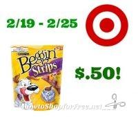 Purina Beggin Strips $.50 at Target! 2/19 – 2/25