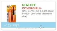 **NEW Printable Coupon** $0.50 off one Covergirl Lash Blast product