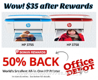 OMG.. $35 HP All-in-One Printer after Rewards! (In-Store/Online)