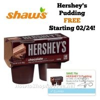 Hershey's Pudding FREE at Shaw's Starting 02/24!