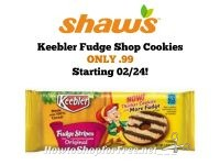Keebler Fudge Shop Cookies ONLY .99 at Shaw's Starting 02/24!