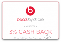 3% cash back on Mobile Purchase of Beats by Dr. Dre