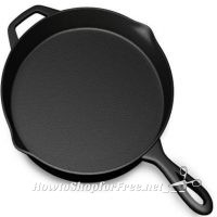 **Amazon Lightning Deal** Pre Seasoned Cast Iron Skillet Pan 12 Inch – 73% off ~ ONLY $23.99!