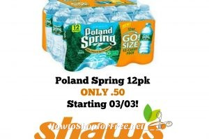 Poland Spring 12 Pack ONLY .50 at Shaw's Starting 03/03!