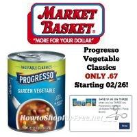 Progresso Vegetable Classics ONLY .67 at Market Basket Starting 02/26!
