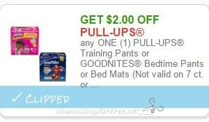 $2.00 off ONE Pull-Ups or Goodnites ~Print Now!