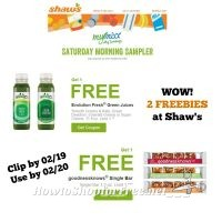 2 Freebies at Shaw's ~ Check Your MyMixx Account – Good Through 02/20!