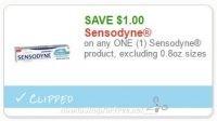 **NEW Printable Coupon** $1.00 off one Sensodyne