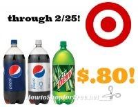 Pepsi 2-Liter Soda only $.80 at Target through 2/25
