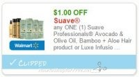 **NEW Printable Coupon** $1.00 off one Suave Avocado and Olive Oil
