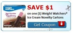 image regarding Weight Watchers Printable Coupons titled Fresh new Printable Coupon** $1.00/1 Bodyweight Watchers Ice Product