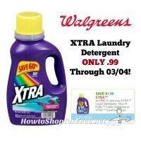 XTRA Laundry Detergent ONLY .99 at Walgreen's Through 03/04!!