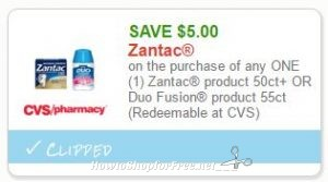 photo regarding Zantac Printable Coupon named Refreshing Printable Coupon** $5.00 off 1 Zantac How in the direction of Store
