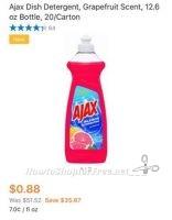 Walmart Glitch?! 20 Bottles of Ajax Dish Liquid for 88¢!