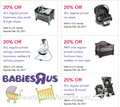 can babies r us coupons be used on furniture