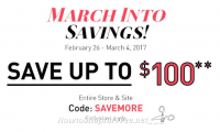 "Big Lots ""March Into Savings"" with up to $100 OFF!"