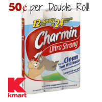 Charmin 12pk Double Rolls for $6.00 @ Kmart! (2/12-18)