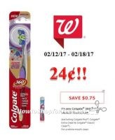 Colgate 360 Toothbrush only $.24 at Walgreen's!