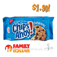 Chips Ahoy! $1.90 at Family Dollar w/Checkout 51! (2/28-3/6)