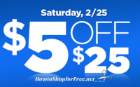 $5 off $25 Dollar General Coupon ~ Valid Today Only! (2/25)