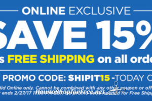 Today Only, 15% OFF + Free Ship on DG Online Orders!!