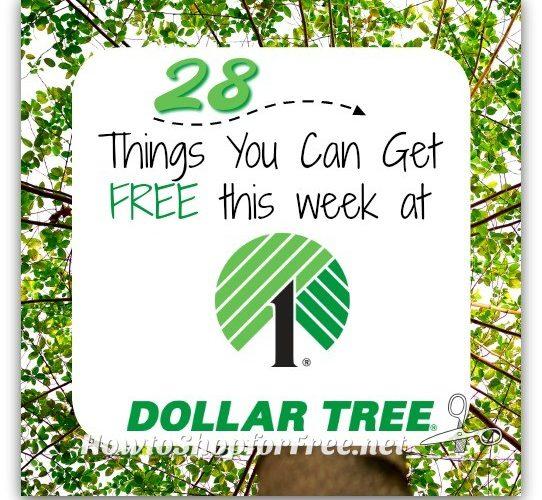 28 FREEBIES at Dollar Tree ~ July 16-22