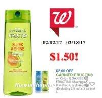 Garnier Fructis Haircare only $1.50 at Walgreen's!