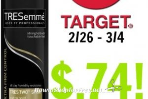 Tresemme Hairspray only $.74 at Target! 2/26 – 3/4