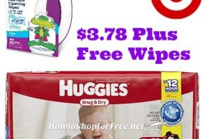 Huggies are $3.78 at Target plus FREE wipes! 2/19 – 2/25