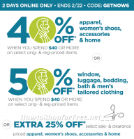 BIG JCPenney Savings Online.. Two Days Only!! (thru 2/22)