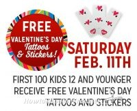 2/11: Kmart Freebie Saturday ~ Temporary Tattoos/Stickers