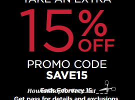 NEW Kohl's 15% Coupon Code!
