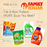 Tide & Gain UNDER $3 at Family Dollar, through March 6th!