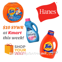$10 SYWR wyb a mix of These Brands @ Kmart! (2/26-3/4)