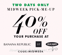 40% off at GAP, Old Navy & Banana Republic **2 Days Only!**
