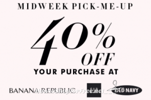 40% off at GAP, Old Navy & Banana Republic **2 Days Only!**