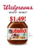 Nutella only $1.49 at Walgreen's!
