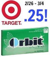 Orbit Gum only $.25 at Target! 2/25 – 3/4