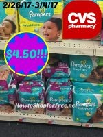 Wow Pampers Diapers Only $4.50 at CVS!!! (2/26/17-3/4/17)
