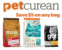 Petcurean Coupon ~ $5 Off Bagged Pet Food