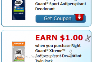 NEW! ~ Up to $1.50 Cash Back wyb Right Guard Products!