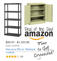 Up to 30% off Shelving & Furniture ~ Organize Your Stockpile! *DotD*