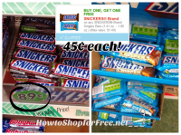 .45 Snickers Singles @ Dollar Tree!!!