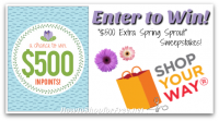 "Enter the ""$500 Extra Spring Sprout"" SYW Sweeps!"