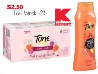 $2.50 Tone Bar Soap & Body Wash @ Kmart (2/12-18)