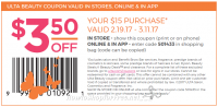 Grab a NEW Ulta Coupon Before You Shop ~ Save $3.50/$15!