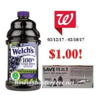 Welch's Grape Juice only $1.00 at Walgreen's!