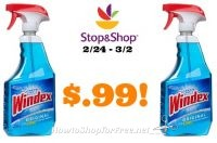 Windex only $.99 at Stop and Shop 2/24 – 3/2